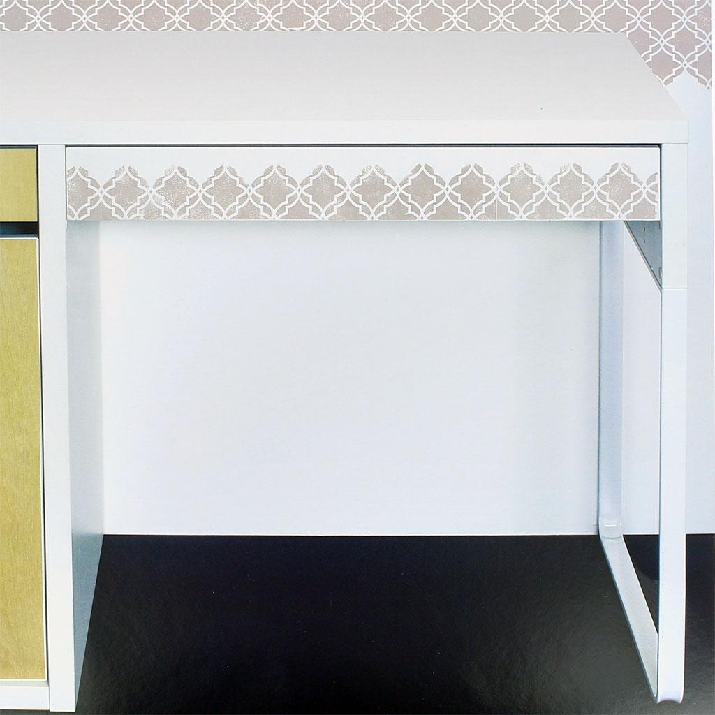 Pochoir Décoratif Home Deco 30x30 Cm Vitrail Petit Modèle Perles Co
