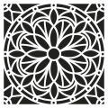Pochoir décoratif Home deco 30x30 cm Mandalas