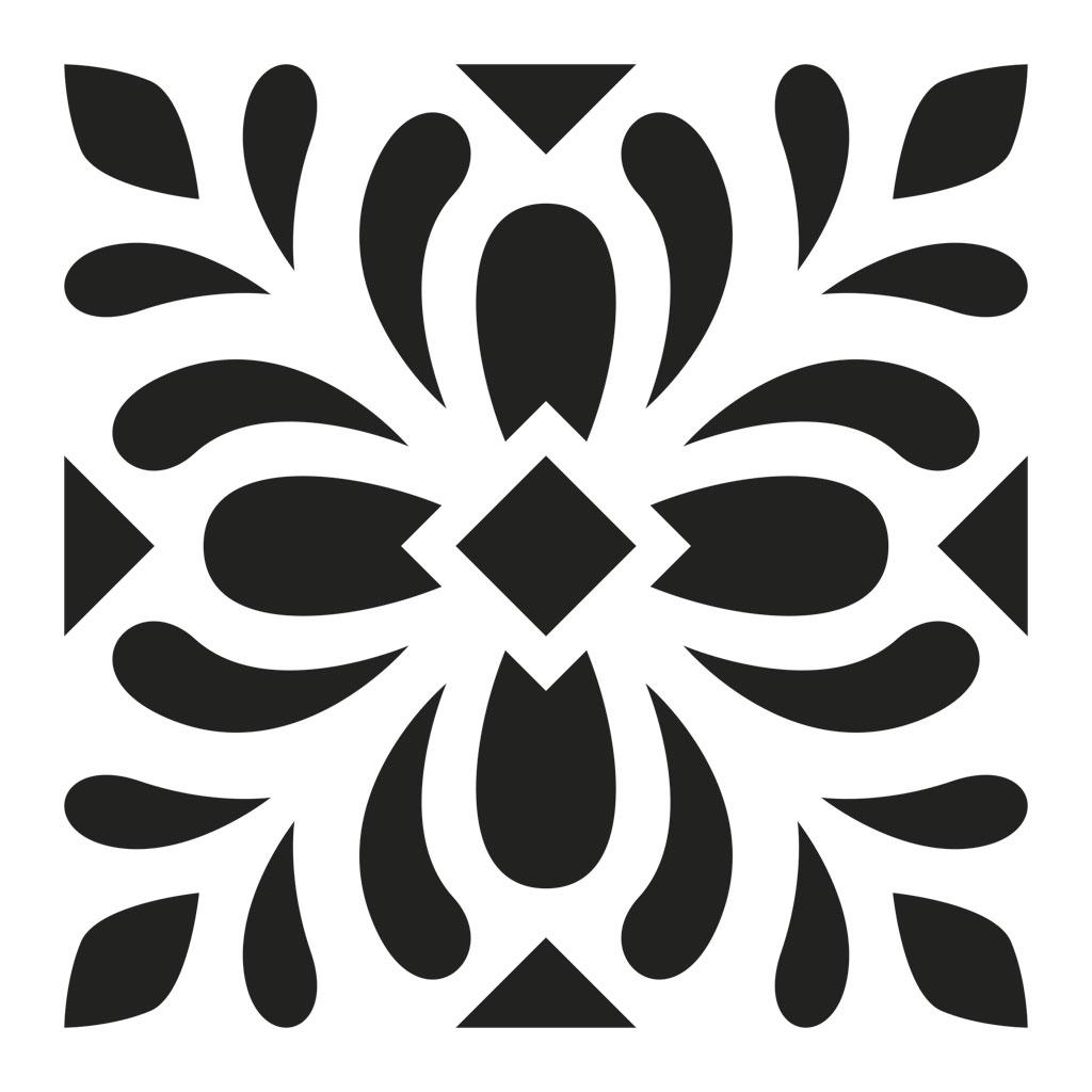 Pochoir d coratif home deco 15x15 cm motif carreaux de for Carrelage 7 5 x 15