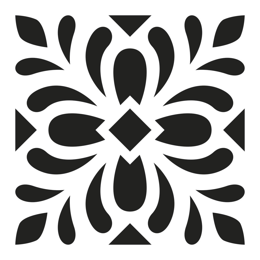 pochoir d coratif home deco 15x15 cm motif carreaux de. Black Bedroom Furniture Sets. Home Design Ideas