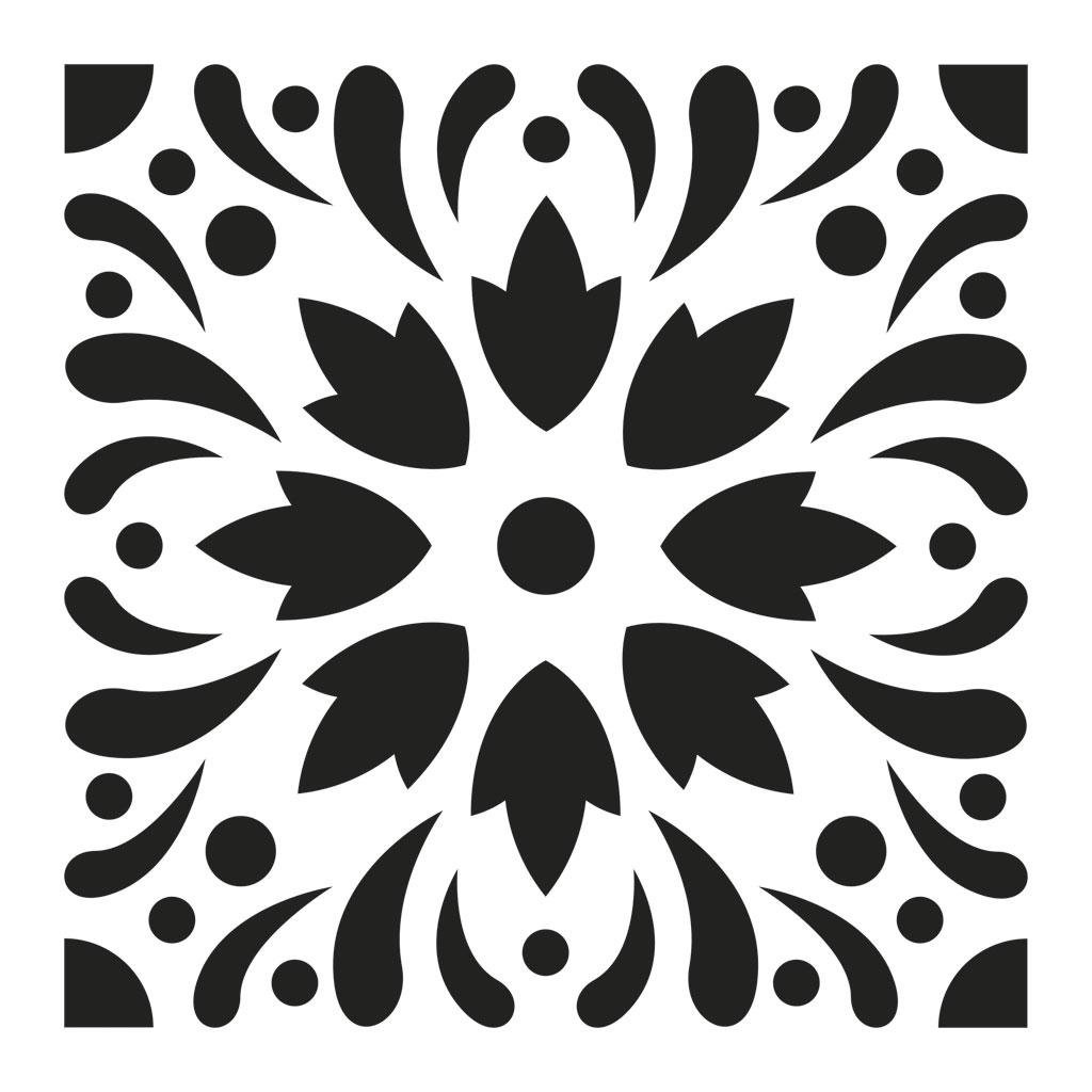 Pochoir d coratif home deco 15x15 cm motif carreaux de for Motif carreaux ciment