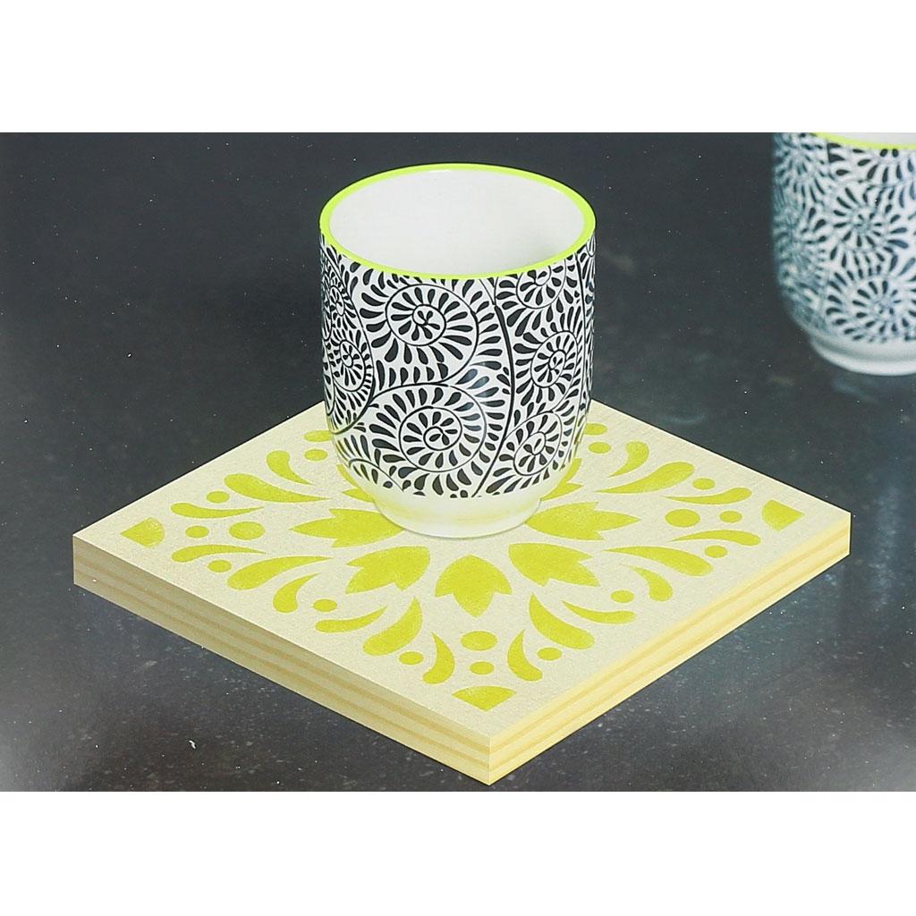 pochoir d coratif home deco 15x15 cm motif carreaux de ciment mod le 4 perles co. Black Bedroom Furniture Sets. Home Design Ideas