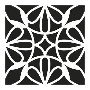 Pochoir d coratif home deco 15x15 cm motif carreaux de - Motif carreau de ciment ...