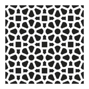 pochoir d coratif home deco 15x15 cm motif carreaux de ciment mod le 2 perles co. Black Bedroom Furniture Sets. Home Design Ideas