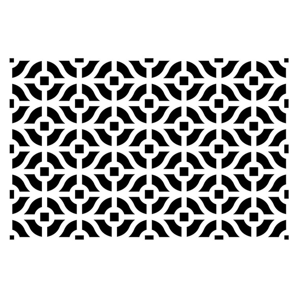 pochoir dcoratif home deco x cm motif style tapisserie anne perles u co with pochoir sol exterieur. Black Bedroom Furniture Sets. Home Design Ideas