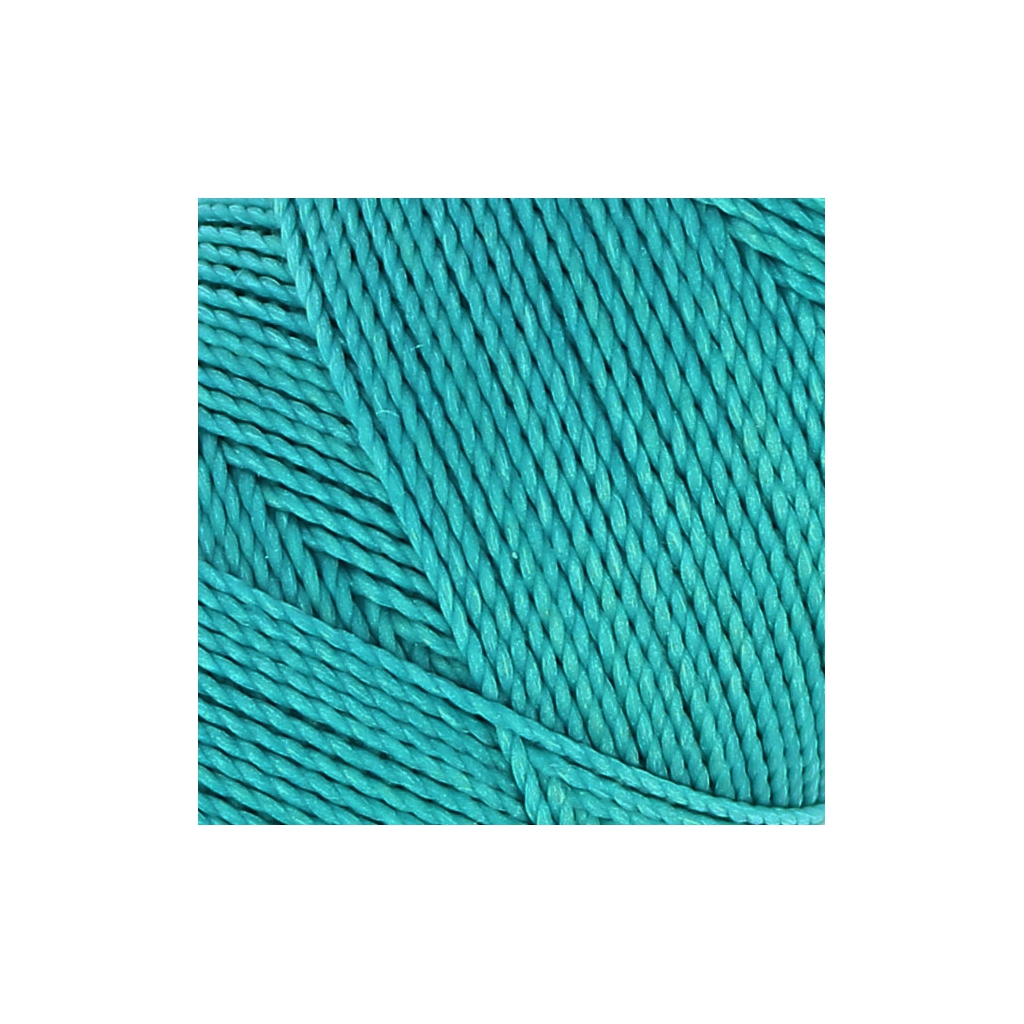 Bobine de fil cir linhasita pour micro macram 1 mm turquoise 22 perles co - Fil pour macrame suspension ...