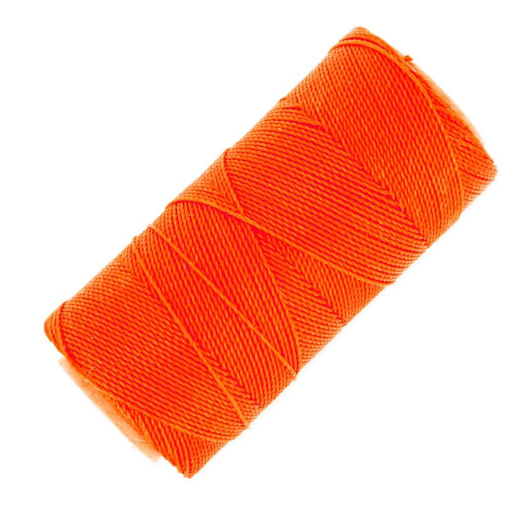 bobine de fil cir linhasita pour micro macram 1 mm n on orange perles co. Black Bedroom Furniture Sets. Home Design Ideas