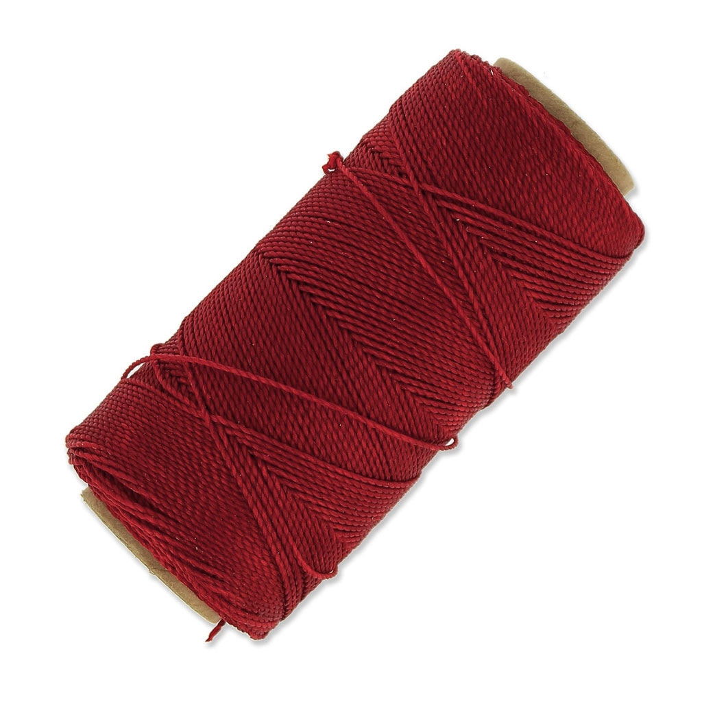 bobine de fil cir linhasita pour micro macram 1 mm red 233 x18 perles co. Black Bedroom Furniture Sets. Home Design Ideas