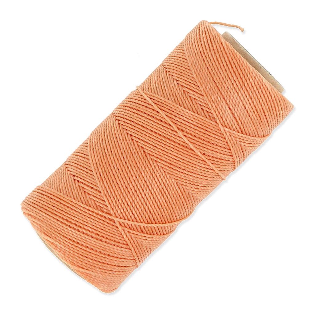 bobine de fil cir linhasita pour micro macram 1 mm orange clair perles co. Black Bedroom Furniture Sets. Home Design Ideas