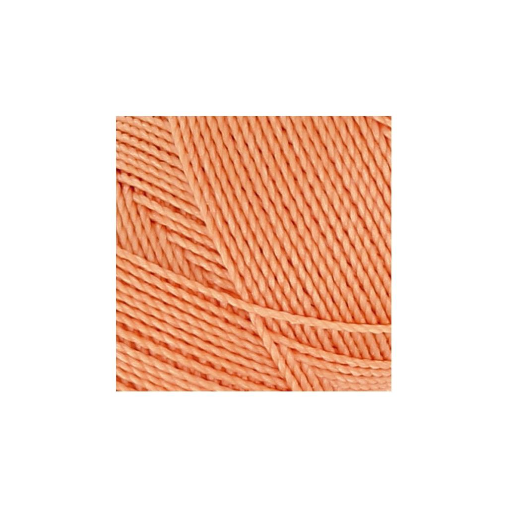 Bobine de fil cir linhasita pour micro macram 1 mm orange clair perles co - Fil pour macrame suspension ...
