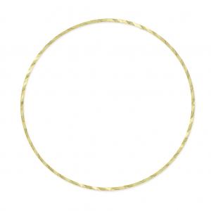 Perles /& Co Anneau de Montage et Tissage Rond travaill/é 40 mm en Laiton Brut
