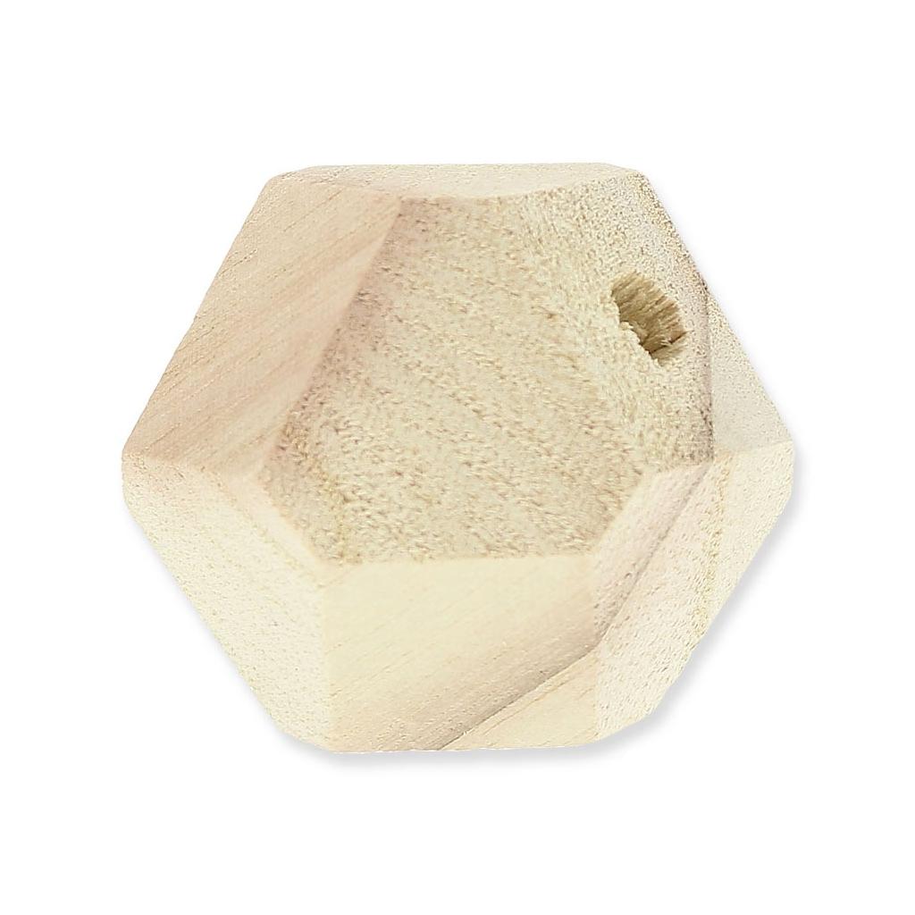 lot de 3 grosses perles facett es en bois brut 45mm pour. Black Bedroom Furniture Sets. Home Design Ideas