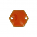 Intercalaires en métal hexagone 2 trous résine époxy 11.5 mm Terracotta x8