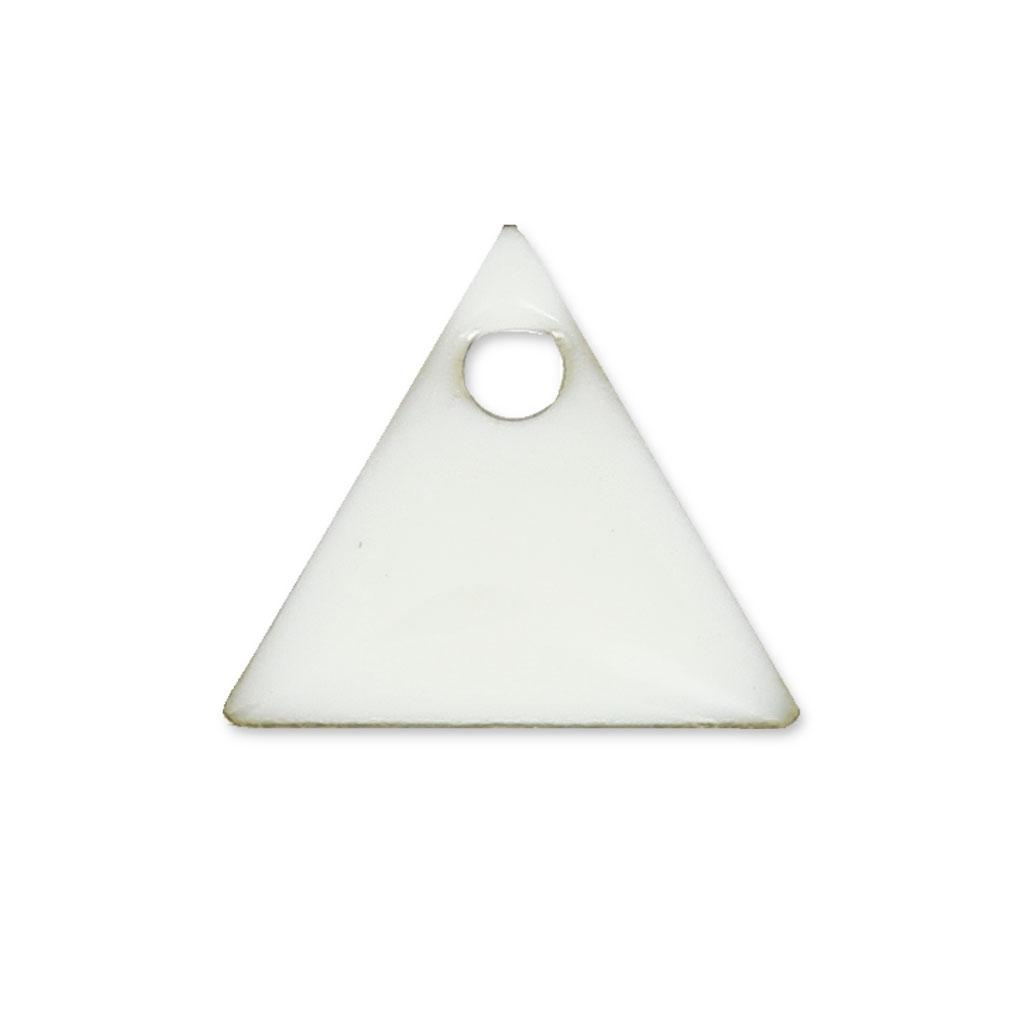 sequins en m tal triangle r sine poxy 8 mm blanc x8 perles co. Black Bedroom Furniture Sets. Home Design Ideas