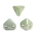 Perles en verre Super-Khéops® par Puca® 6mm O Light Green Ceramic Look x10g