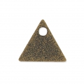 Sequins en métal diamanté triangle 8 mm bronze x8