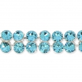 Swarovski Crystal Mesh 40001 2 rangs 5,3 mm Aquamarine x5cm
