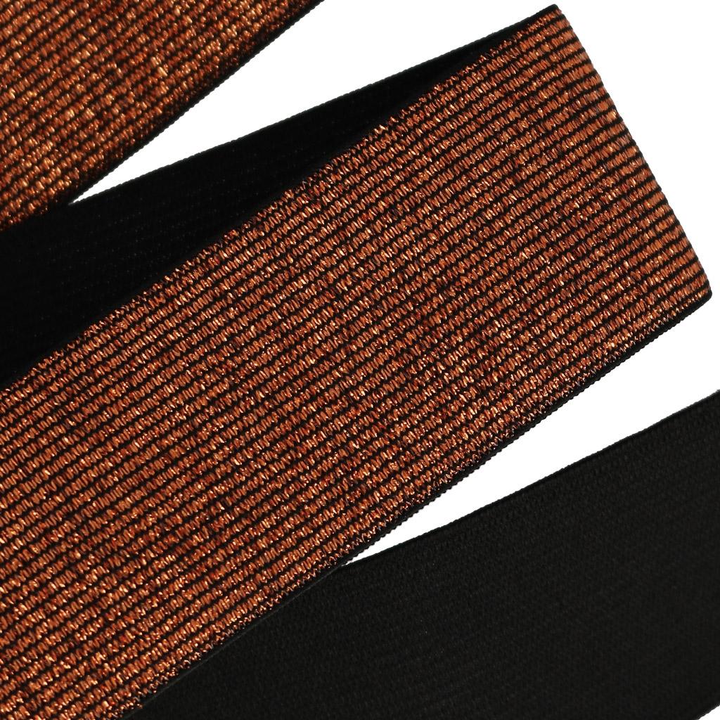37b52452dacb Ruban élastique métallisé pour ceinture 40 mm Cuivre x 1m - Perles   Co
