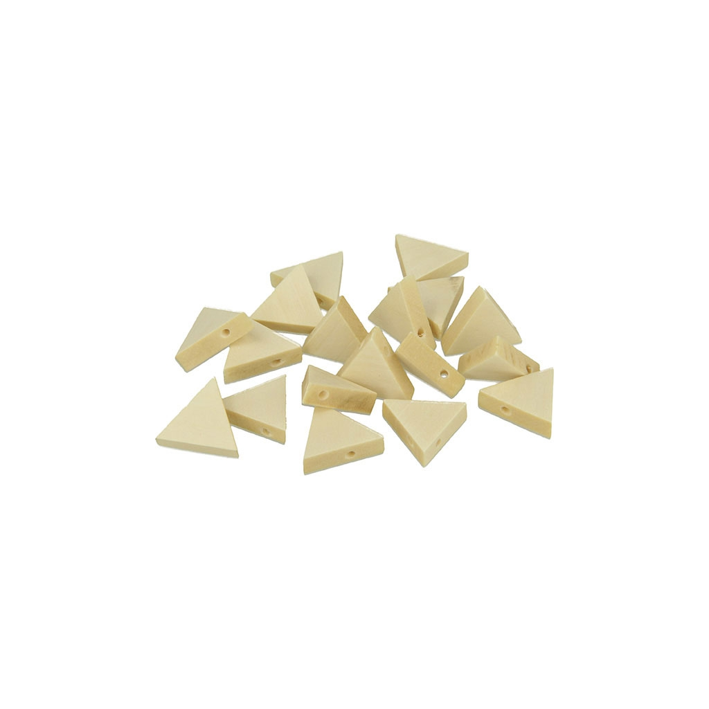 set de 20 perles triangles en bois brut naturel 17x20 mm. Black Bedroom Furniture Sets. Home Design Ideas