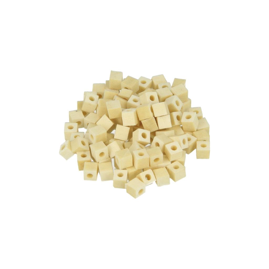 set de 100 perles carr es en bois brut naturel 5 mm x1. Black Bedroom Furniture Sets. Home Design Ideas