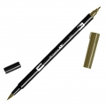 Feutre Tombow Dual Brush - Feutre pinceau double pointe Dark Ochre ABT-027