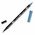 Feutre Tombow Dual Brush - Feutre pinceau double pointe Process Blue ABT-452