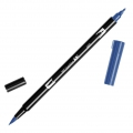Feutre Tombow Dual Brush - Feutre pinceau double pointe Deep Blue ABT-565
