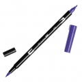 Feutre Tombow Dual Brush - Feutre pinceau double pointe Violet ABT-606
