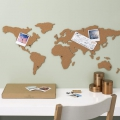 Carte du Monde liège adhésif Luckies London 100x46 cm The Corkboard Map
