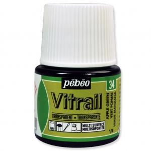 Peinture Vitrail Vert Pomme N34 X45ml Perles Co