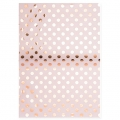 Paper Patch Bouquet Sauvage 42x30 cm Pois Light Rose/Doré Rose x3 feuilles