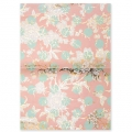Paper Patch Bouquet Sauvage 42x30cm Toile de jouy Light Rose/Or x3 feuilles