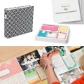 Set de 100 cartes 7.5x10cm Blanc pour l'Album Project Life DIY