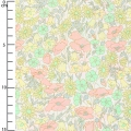 Tissu Liberty - Poppy and Daisy Pastel x10cm
