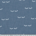 Sleepy Eyes - Tissu Polycoton Kimsa Denim x10cm