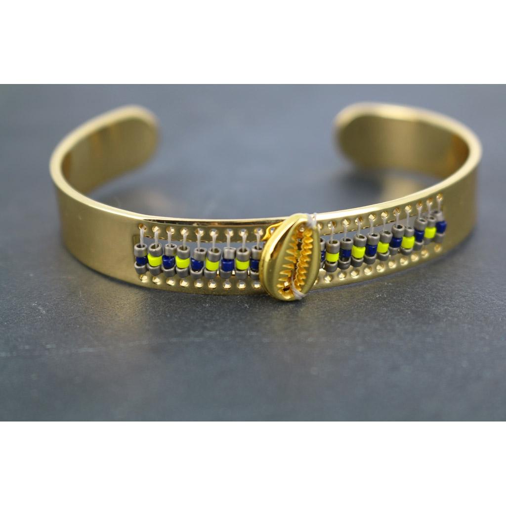 Assez Bracelet en laiton spécial tissage de perles Miyuki pour des créat  HD41
