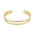 Bracelet en laiton spécial tissage de perles Miyuki pour des créations DIY 10x155 mm doré