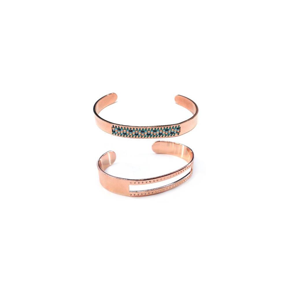 Populaire Bracelet en laiton spécial tissage de perles Miyuki pour des créat  ZI88