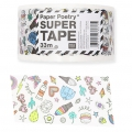 Ruban adhésif - Paper Poetry Super Tape 50 mm Magical Summer Blanc x33m