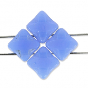 Perles en verre 2 trous T.C Silky Bead Star 6x6 mm Light Sapphire Opal x50