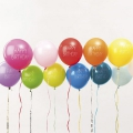 12 ballons de baudruche pour décoration festive Yey - Let's Party Happy Birthday Multicolore x1