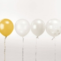 12 ballons de baudruche pour décoration festive Yey - Let's Party Mix Blanc x1