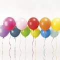 12 ballons de baudruche pour décoration festive Yey - Let's Party Mix Multicolore x1