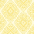 Tissu Benartex - Metallic Lace by Dove Hill - Ivory/Gold Medallion x10cm