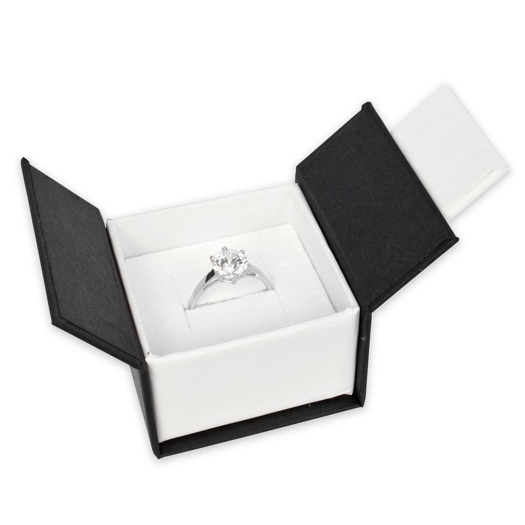 boite aimant e pour bague 5x5x3 5 cm cm noir blanc x1 perles co