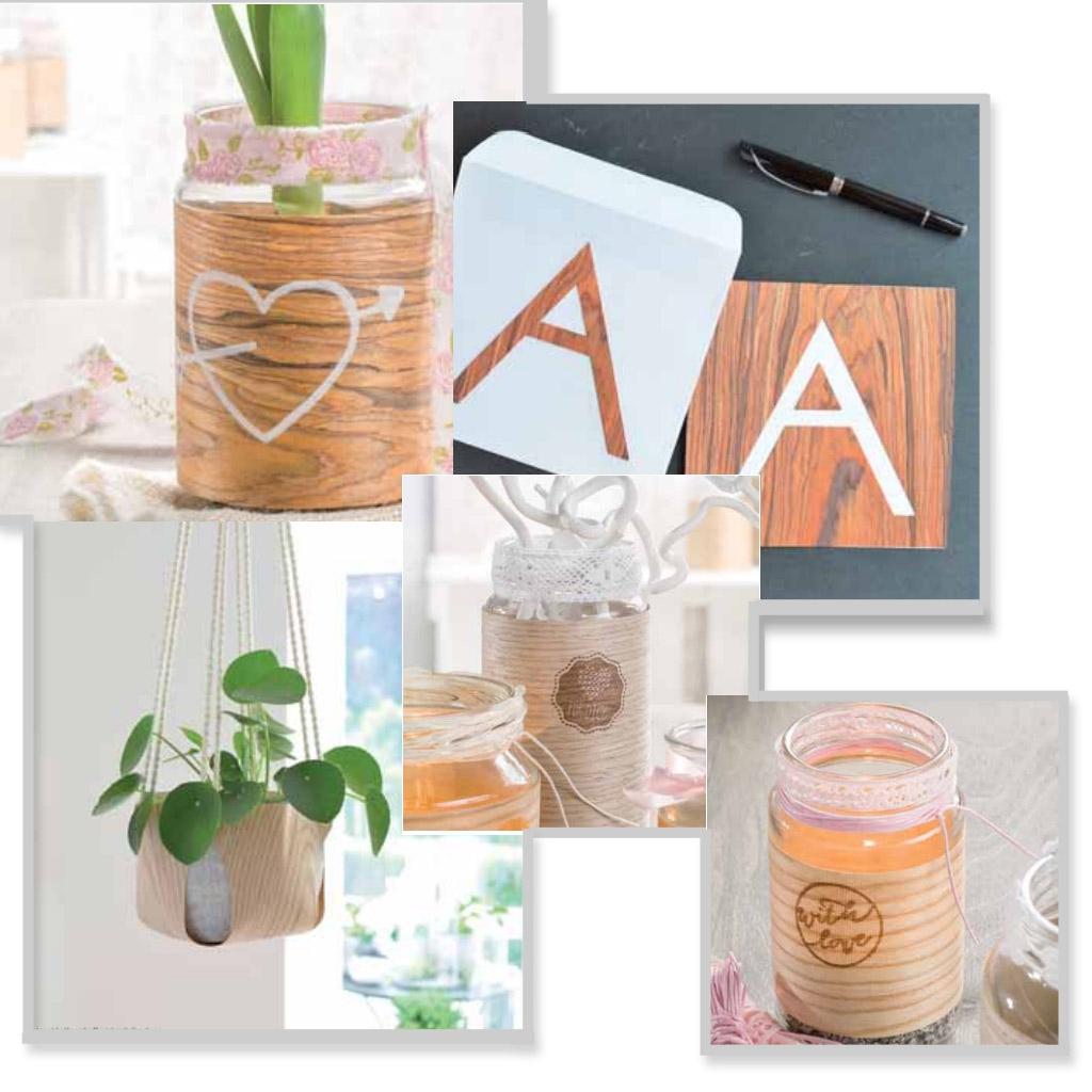 tissu d coratif placage bois coupon de 6x250 cm marron perles co. Black Bedroom Furniture Sets. Home Design Ideas