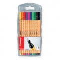 Etui chevalet x 10 stylos-feutres STABILO point 88 - coloris standard