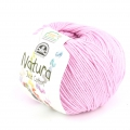 Coton Natura Just Cotton DMC - Pelote coton Rose Soraya (n°32) x 155m