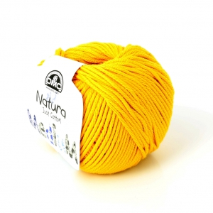 Coton Natura Medium Just Cotton DMC - Pelote coton Jaune Bouton (n°99) x 75m