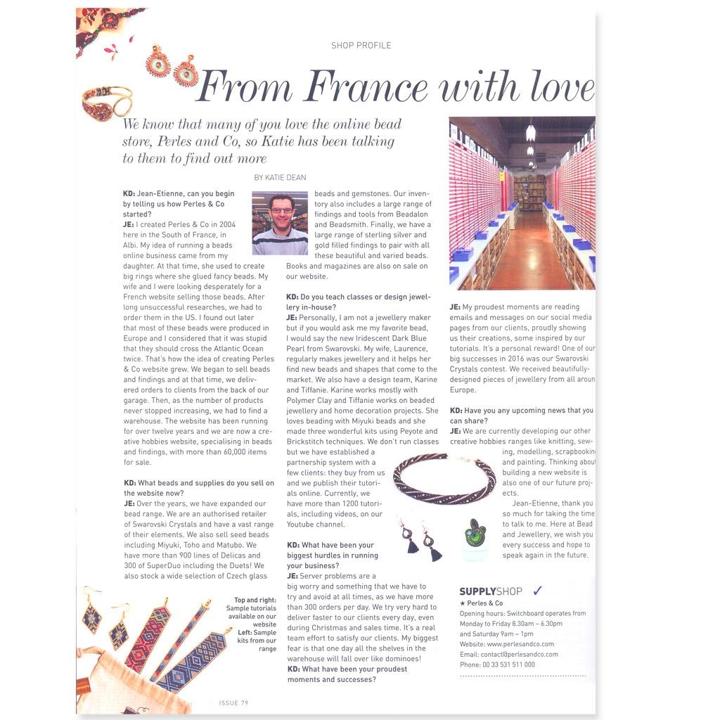 magazine bead jewellery juin juillet 2017 en anglais perles co. Black Bedroom Furniture Sets. Home Design Ideas